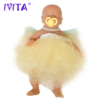 IVITA WG1514 46cm 2972g silicone dolls bebes reborn Similar Real girl eyes closed juguetes soft realistic Collectible toys
