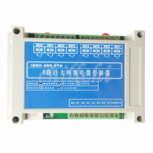 8 way network Ethernet, Internet Relay switch, RJ45 cable, TCP/IP, MODBUS, RTU