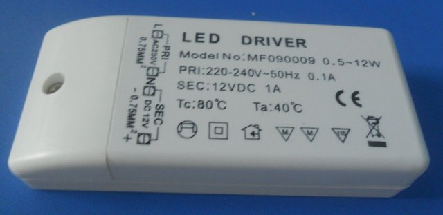 12V/12W constant voltage led driver,AC220-240V input
