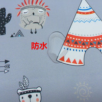 Indian cartoon bear digital printing waterproof polyester cloth DIY hand made fabric cloth curtain tablecloth