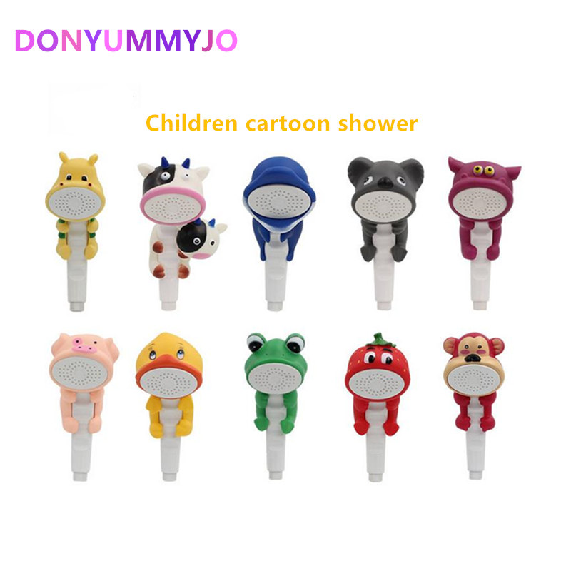 DONYUMMYJO Children Show Heads Cartoon Lovely Home Toy Shower Kid Shower Bathroom Hand Shower Water Booster Faucet Douche Kop