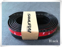 2.5m black/red front protector car bumper skirts anti scratch strip lower lip for mercedes w204 mitsubishi asx ford focus 3 opel