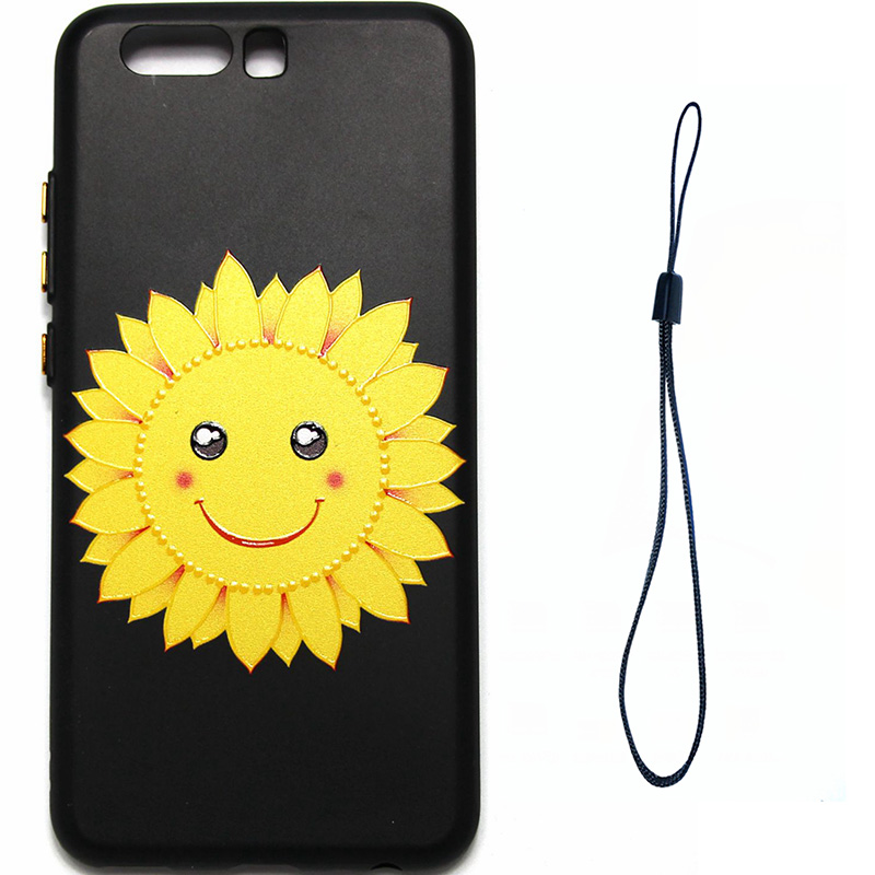 3D Relief flower silicone  case huawei p10 (11)
