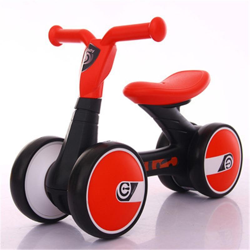 купить Children Baby Swing Car Four-wheeled No Pedals Balance Bike Mute Wheel Skid Resistance Exercise Your Baby's Balance G1520 по цене 6799.07 рублей
