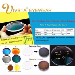 Image 3 - IVSTA Clip On Sunglasses Men Removable Clips Flip Up Glasses Round Steampunk Women Optical Frame Graduated Retro Mirror Lenses