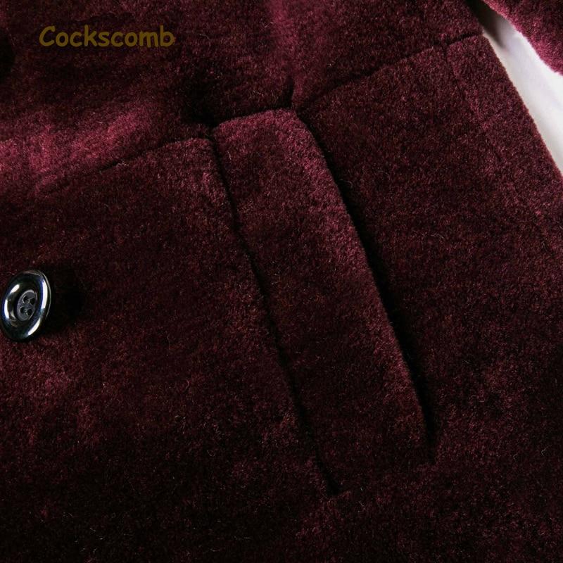 Manteau Survêtement De Unique Fourrure Marque Poitrine Vestes Nouveau Col Agneau Crête Coq Hiver Pourpre Montant 2018 Chaud Laine Femme Femmes wf8Rq