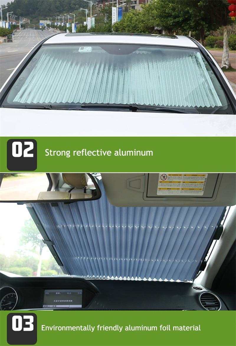 Автомобильное выдвижное лобовое стекло солнцезащитный тент блок солнцезащитный козырек крышка переднее заднее окно фольга занавеска для солнечной УФ защиты 46/65/70 см