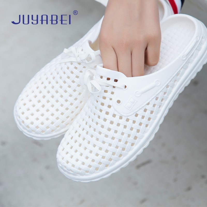 White Breathable Non-slip Nurse Shoes Surgical Medical Shoes Summer Hospital Laboratory Beauty Salon Dental Work Slippers Unisex
