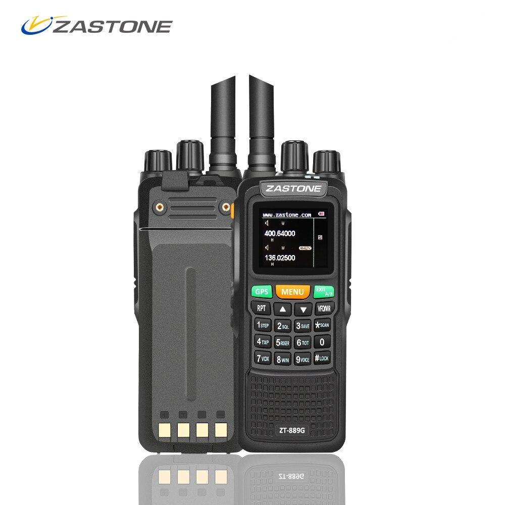 Zastone 889G GPS Walkie Talkie 10W 999CH 3000mAh UHF 400 520 VHF136 174MHz Ham CB Radio
