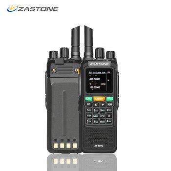 Zastone 889G GPS Walkie Talkie 10 W 999CH 3000 mAh UHF 400-520/VHF134-174MHz jamón Radio CB transceptor HF para explorar de caza