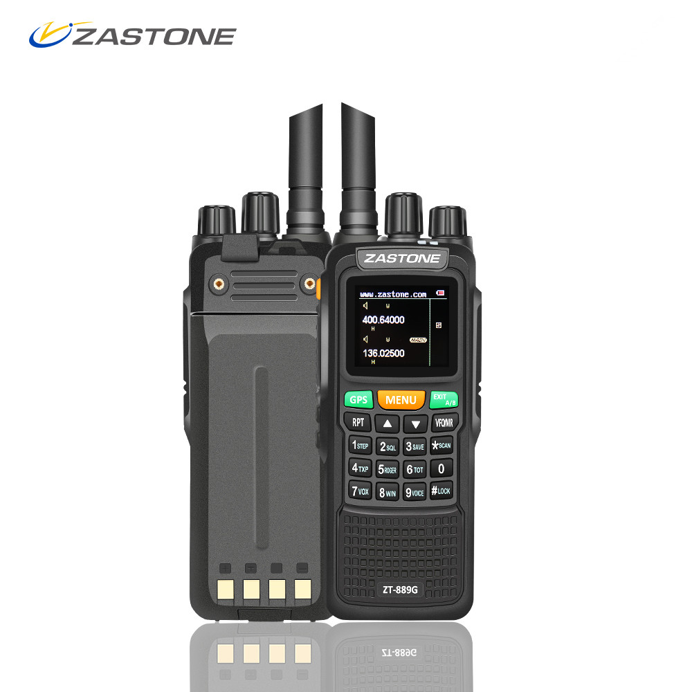 Zastone zt-889g GPS Walkie Talkie 10 w 999CH 3000 mah UHF 400-520/VHF134-174MHz Ham Radio CB HF Ricetrasmettitore per Esplorare Caccia