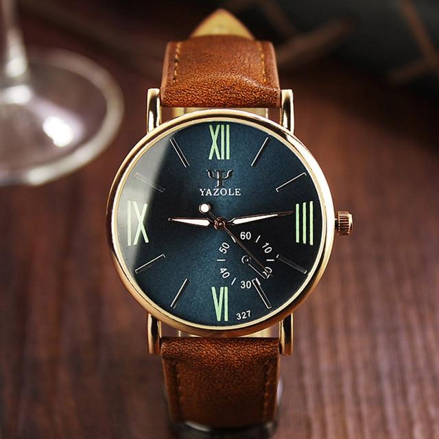 Zegarek męski YAZOLE klasyczna elegancja rzymskie cyfry różne kolory
