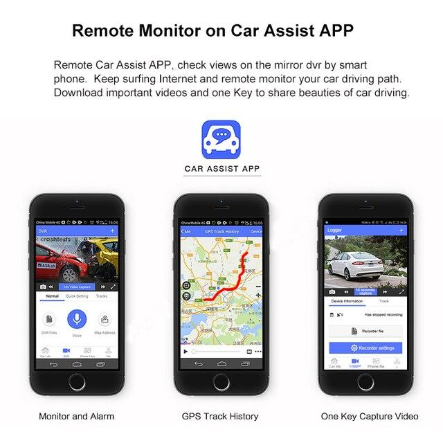 "ANSTAR 4G Android Rearview Mirror Car DVR 10"" HD 1080P GPS WIFI ADAS Dash Cam Dual Lens Recorder Auto Camera Registrar DVRs 4"