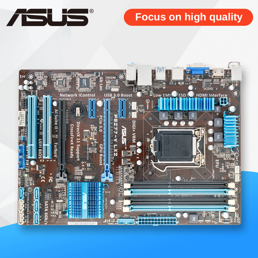 Asus P8Z77-V LX2 Desktop Motherboard Z77 Socket LGA 1155 i3 i5 i7 DDR3 32G SATA3 USB3.0 ATX asrock z77 oc formula original used desktop motherboard z77 socket lga 1155 i3 i5 i7 ddr3 32g usb3 0 e atx