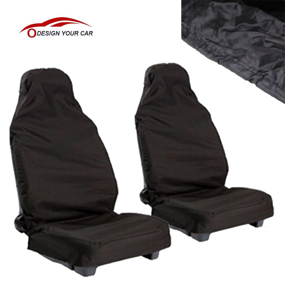 2pcs Car Seat Covers Universal Van Front Heavy Duty