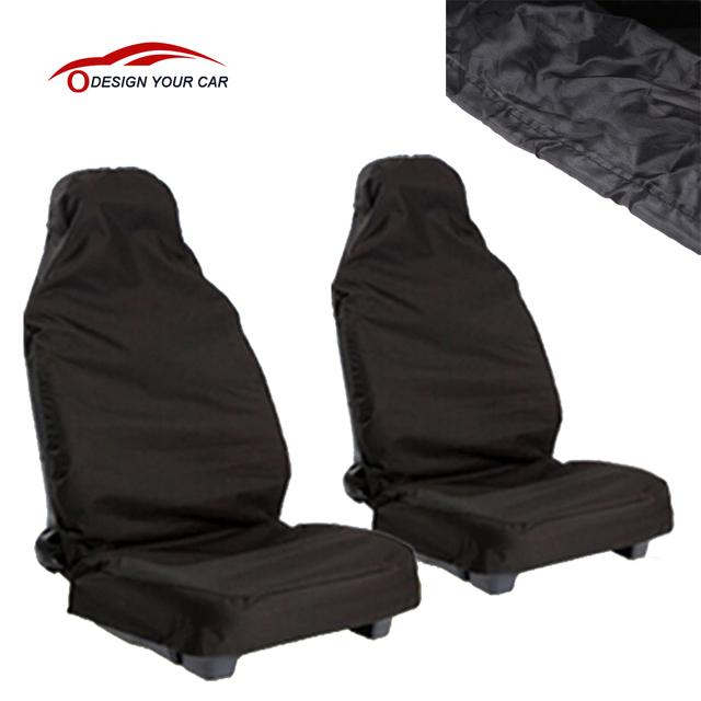 Universal Waterproof Car Seat Covers 2pcs Van Front Heavy Duty Dustproof Polyester Protectors For
