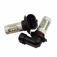 2PCS Canbus 80W 9005 9006 Canbus No Blinking Osram Chips LED Car Driving Light HB3 Fog