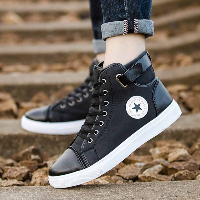Thin Section High Band Thin Men'S Shoes Stars Thickening Foreign Trade Tide Belt Speed Sell Through Large Size High Men'S Shoes