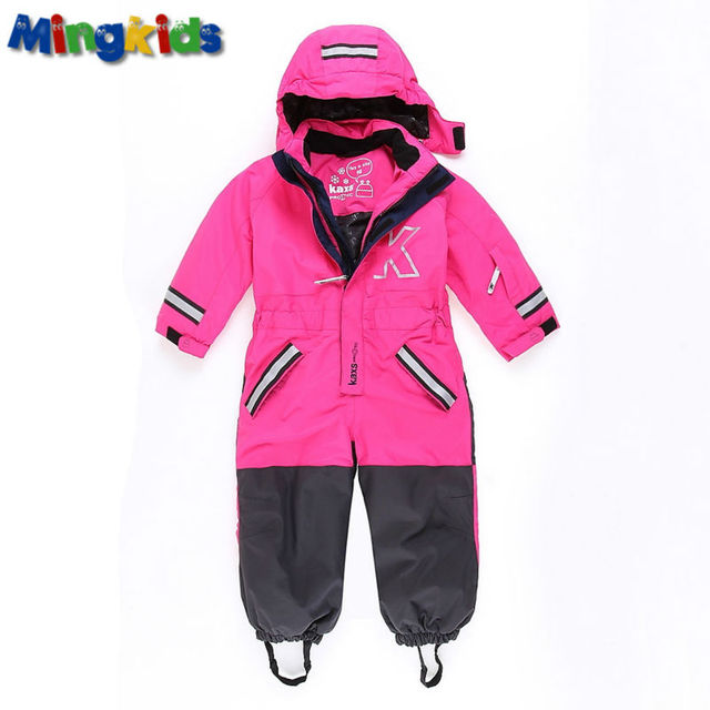 fdcfc2cff Russian mingkids Snowsuit toddler girl Rompers Ski Jumpsuit Outdoor ...