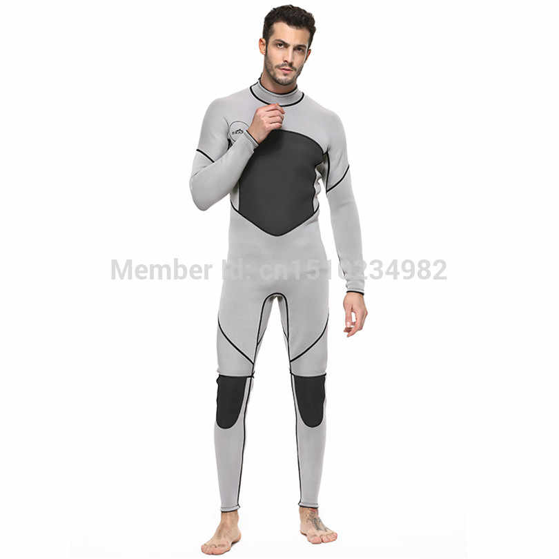 0c10cf7e77 ... 2018 Winter Outdoor Professional Snorkeling Diving Suits Men Swimwear  Rashguard Man One Piece 3MM Neoprene Wetsuit ...