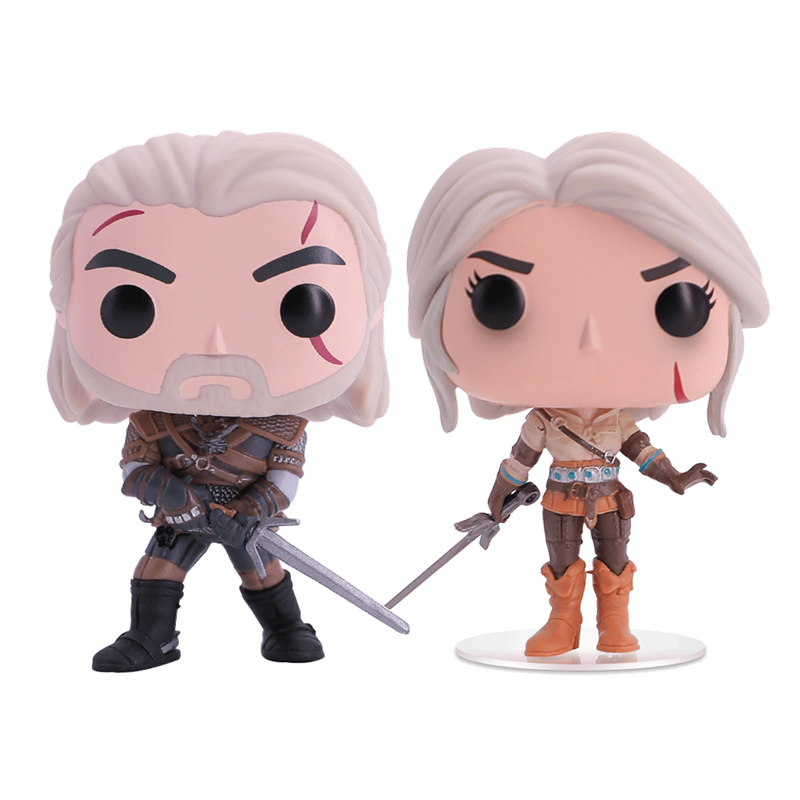 Witcher 3 Wild Hunt Action Figures Geralt And Ciri Figures Hot Toys Vinyl Doll Collection