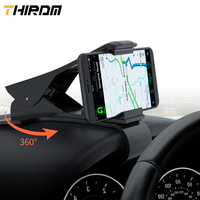THIRDM Car Phone Holder Universal HUD Dashboard Mount Clip Rotation Stand Bracket for 6.5Inch Mobile Phone GPS iPhone X Samsung