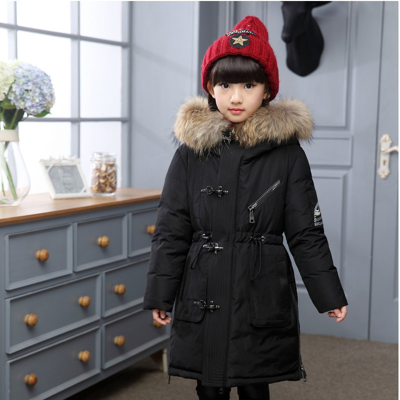 2016 New Children Winter Coat Slim Thick Warm Duck Down Jacket Fur Collar Hooded Kids Girls and Boys Outerwear Coat DQ088 high quality boys thick down jacket 2017 winter new children warm detachable cap coat clothing kids hooded down outerwear