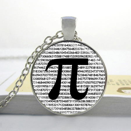 Wholesale Glass Dome Jewelry PI Necklace Math Jewelry Teachers, Science, Mathematics Black and White Art Pendant Glass Necklace