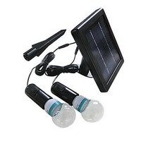 Luminaria Luz LED Solar Garden Light Lamp With 2 Lights Solar Powered LED Bulb Outdoor Lighting