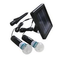 Luminaria Luz LED Solar Garden Light Lamp With 2 Lights Solar Powered LED Bulb Outdoor Lighting