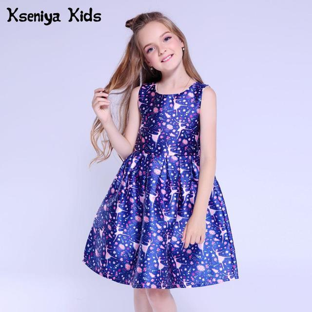 Kseniya Kids Wedding Dresses Girls Summer Dress For Baby Girl Clothes Graduation Gowns Children Evening Dresses Age 10 12 13