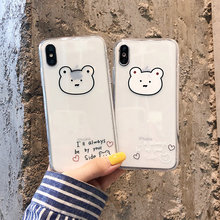 Silicone soft case for 6 s iPhone xs cute clear cartoon animal mobile phone case cover for iPhone 6 6s 8 7 plus xr x xs max tpu цена и фото