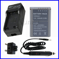 Battery + Charger for Olympus PEN E P5, EP5, OMD EM1, E M1, OMD EM5, E M5, OM D EM5 Mark II Digital Camera