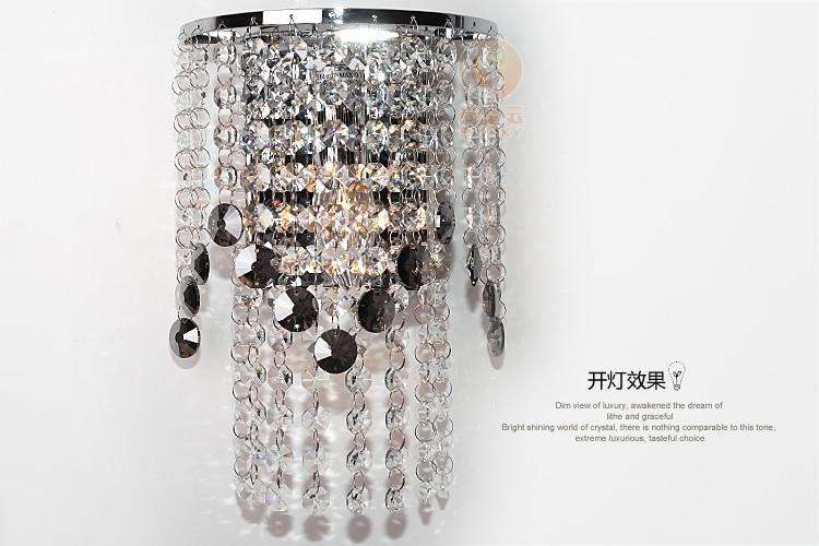 ФОТО Modern High Quality K9 Clear/Gray Crystal Sunflower  Wall Lamp Bedroom Luxury Decorative Lighting For Hall Hotel Bedside Bedroom