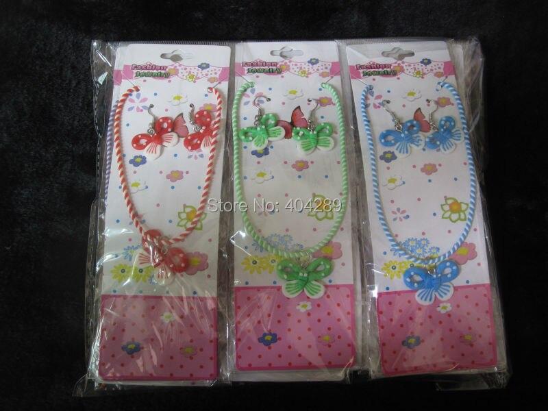 Groothandel 60 sets 'Mooie Fimo Klei Ketting & Oorbellen Kinderen/Kids Sieraden Set Gift-in Sieradensets van Sieraden & accessoires op  Groep 1