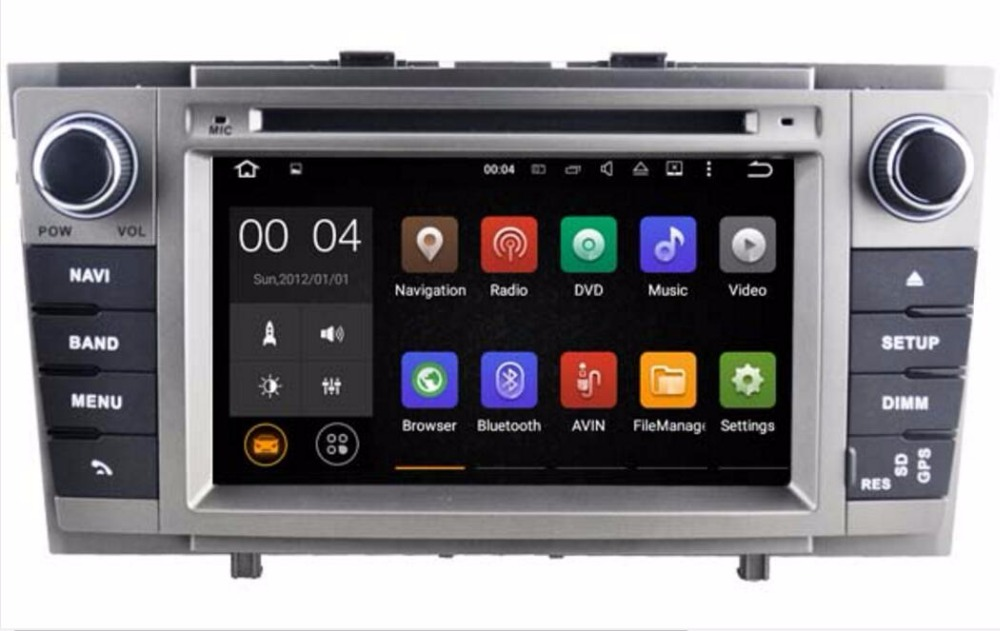 Android 7.1 Car DVD Stereo Multimedia Headunit For <font><b>Toyota</b></font> <font><b>T27</b></font> Avensis 2009-2014 Auto PC Radio GPS Navigation Video Audio 2G RAM image