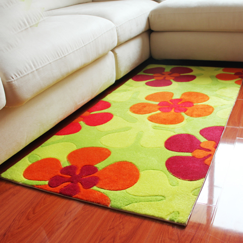 Woven thickening flower carpet piaochuang entranceway bed blankets mats