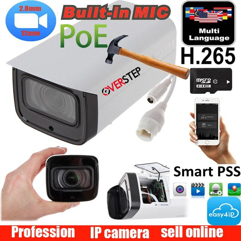 Original DH IPC-HFW4433F-ZSA 4MP Starlight Camera 2.7mm ~13.5mm varifocal motorized lens IR80M built-in MIC poe IP Camera Original DH IPC-HFW4433F-ZSA 4MP Starlight Camera 2.7mm ~13.5mm varifocal motorized lens IR80M built-in MIC poe IP Camera