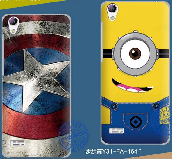 newest collection b6ff9 b6e3b US $13.99 |BBK vivo Y31 hard back cover case 3D relief Brand DY for BBK  vivo Y31 colorful cartoon luxury back cover case new 2015 arrival on ...