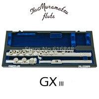 Новый мурамацу GX III 16 ключи отверстия Откройте C мелодия Посеребренная Флейта с случае аксессуары музыкальный инструмент Flauta Бесплатная дос