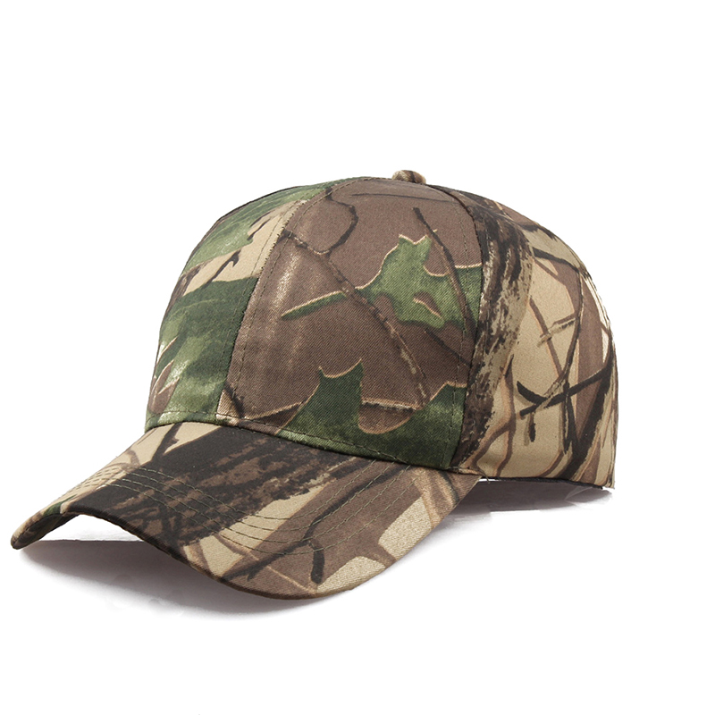 Men Women Camouflage Baseball Hat Caps Adjustable Camo Fishing Hiking Army Outdoor Sun Hat 2 Styles
