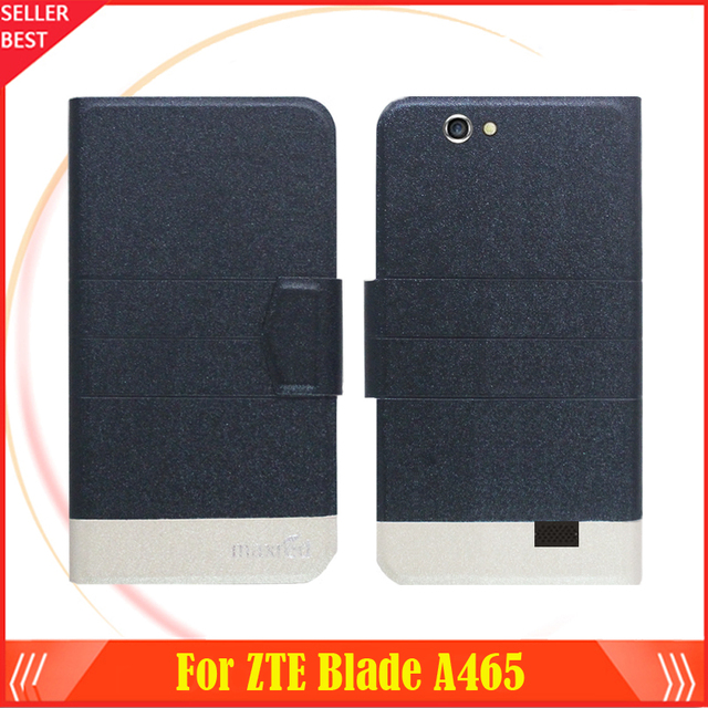 5 Colors Factory Direct!! ZTE Blade A465 Case Flip Ultra-thin Fashion Leather Stand Function Protective Phone Cover