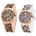 Fashion Unisex Watches Geneva Leopard Women Men's Clock Silicone Jelly Gel Quartz Analog Wrist Watch f