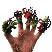 Creative Novelty Childrens Finger Simulation Animal Silicone set Strange Funny Boy Child Scary Toy