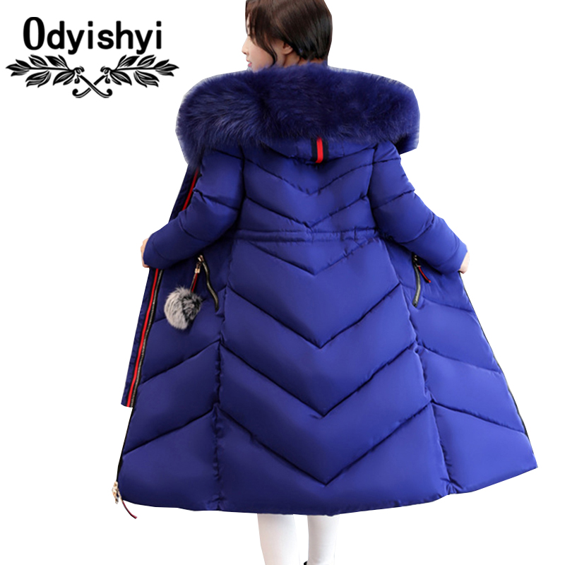 7XL Plus size Women Down Cotton Jackets 2019 New Big Fur collar Winter Hooded Thick Warm
