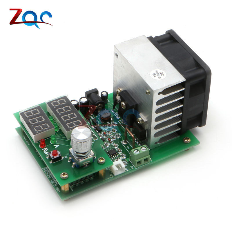 9.99A 60W 30V Constant Current Electronic Load Discharge Battery Capacity Tester Meter With Dual LED Digital Fan Module