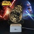 Творческие подарки звездные войны лампы 3D ночник робот USB из светодиодов таблица бюро Lampara в качестве домашнего декора спальня чтение ночная