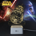 Regalos creativos Star Wars Lamp Night 3D Light Robot USB tabla Led Desk Lampara como decoración casera de lectura del dormitorio Nightlight