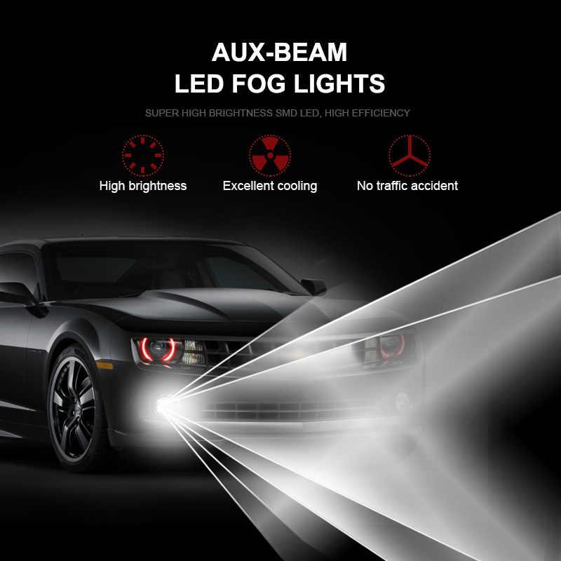 Светодиодный CanBus без ошибок H11 H8 лампы для фар Противотуманные фары для Honda Acura Odyssey Accord City подходит для CRV Авто дневные ходовые огни лампы нет Hyper флэш-белый
