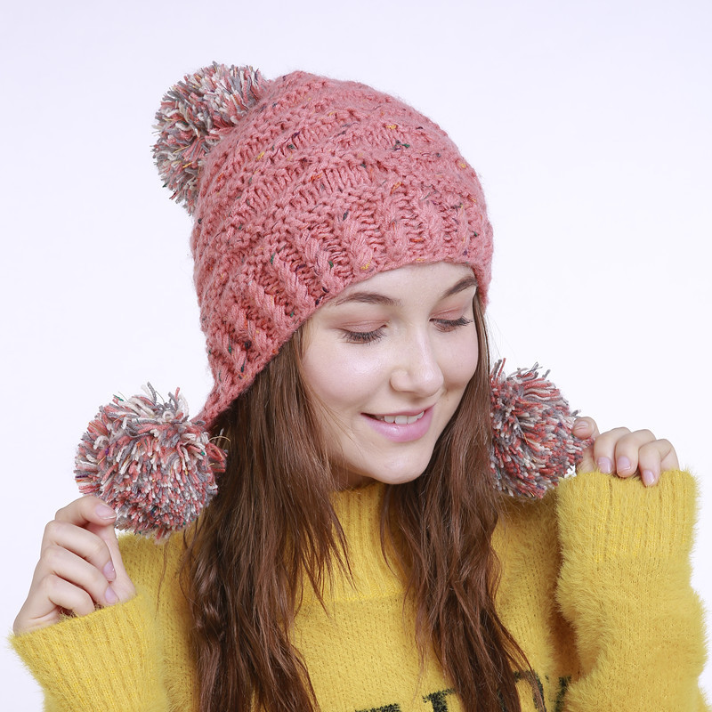 Detail Feedback Questions about Beanies For Women Winter Cap Earflap ... 7f24914dd201